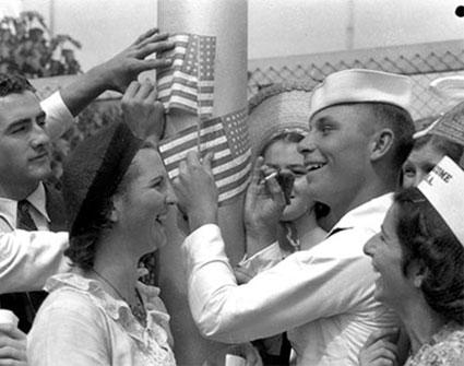 American sailors, Brisbane, Queensland, 1941.
