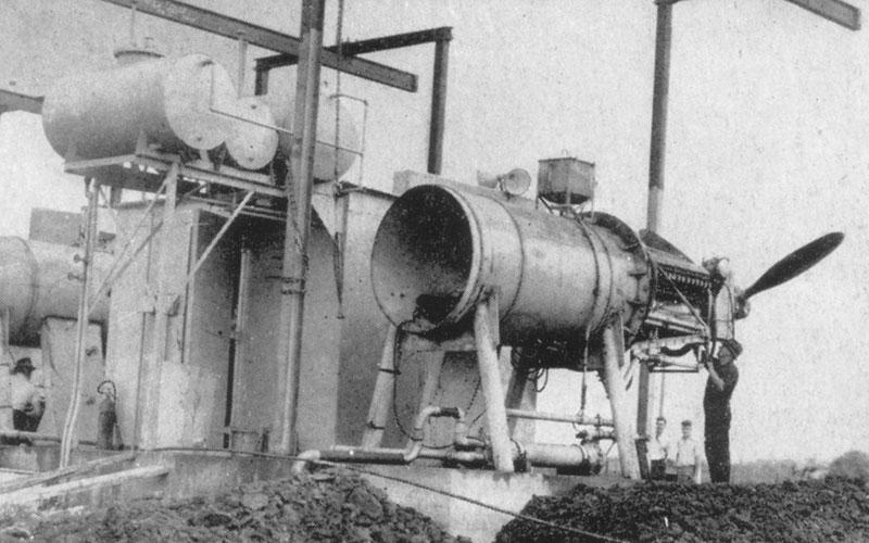 Allison Engine Testing Stands at Brisbane's Eagle Farm Airfield